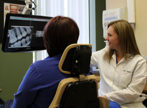 Rocklin Dentistry - reviewing x-rays with a patient