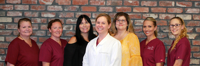 Dr. Kasi Franck with her dental team in Rocklin, CA