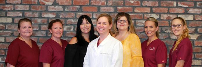 Dr. Kasi Franck with her dental team in Rocklin, CA