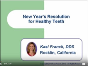 Screenshot of educational video by Dr. Franck, New Year's Resolutions for Healthy Teeth